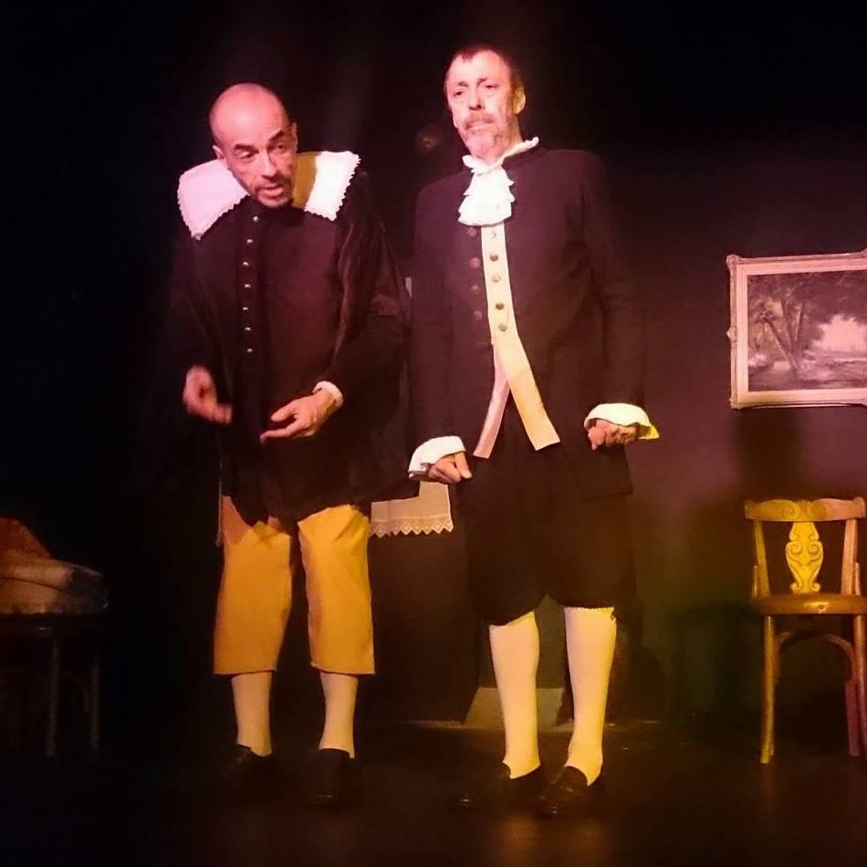 El ilustre Don Diego y su criado, Simón (El sí de las niñas)