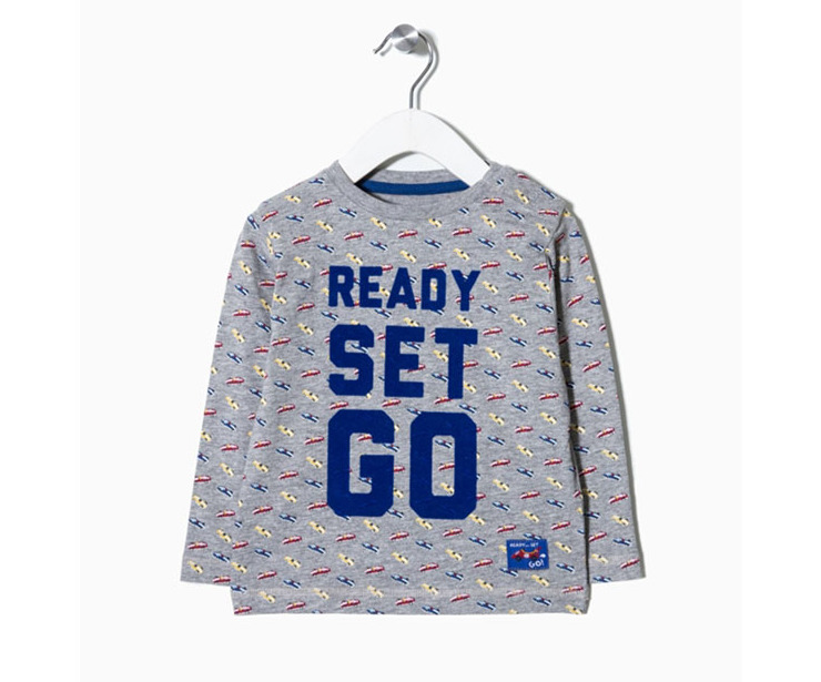 Camiseta manga larga Ready Set Go gris antes 7.99 € ahora 5.99€