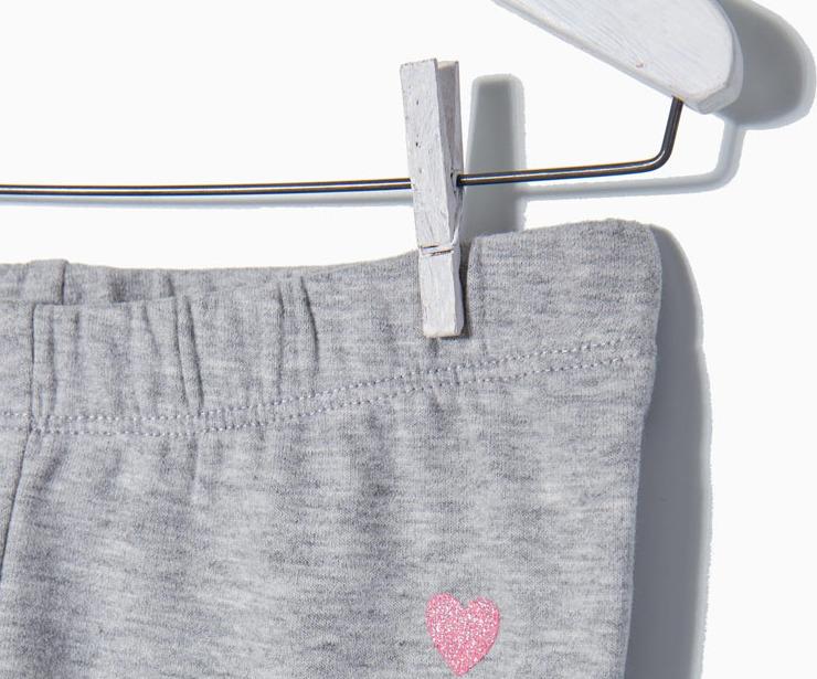 Detalle leggings punto gris antes 7.99 € ahora 5.99€
