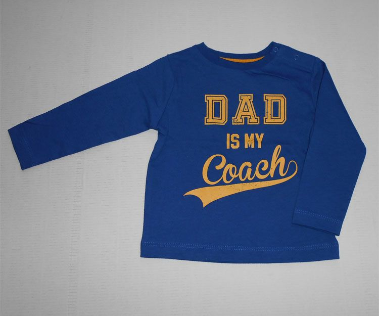 Camiseta manga larga Dad is my coach 14.99 €
