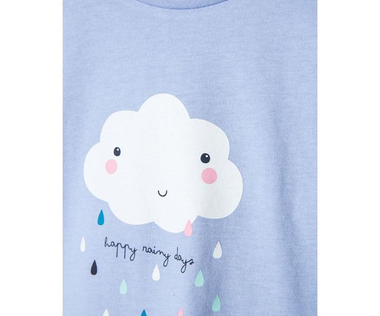 Detalle camiseta manga larga nube azul antes 7.99 € ahora 5.59€
