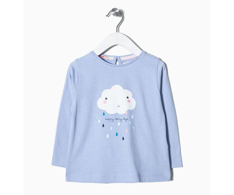 Camiseta manga larga nube azul 17.99 €