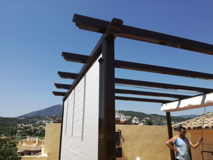 Pérgolas con toldos correderos en Estepona