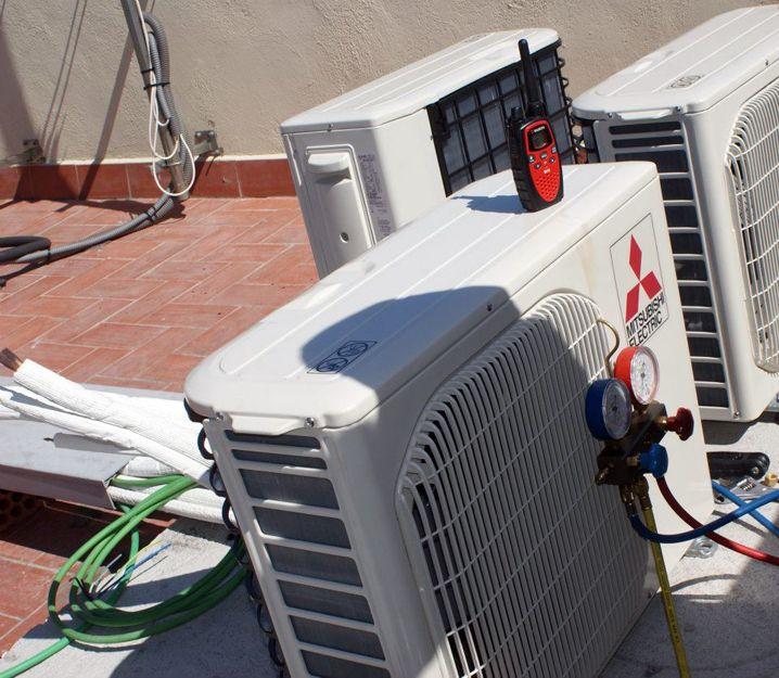Instalación de aire acondicionado en el Eixample, Barcelona