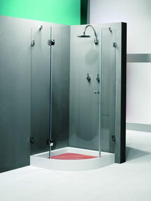 Mampara baño o ducha con bisagras y sin perfileria