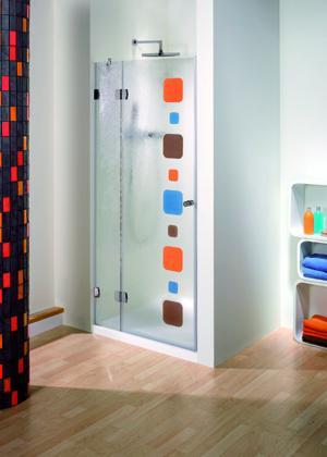 Mampara baño o ducha,  vidrio fusing personalizada