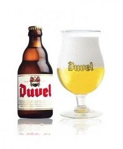 Duvel. cerveza belga, rubia