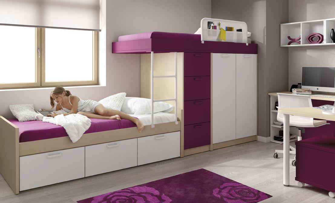 Trenes camas altas y literas juvenil infantil - Camas altas ninos ...