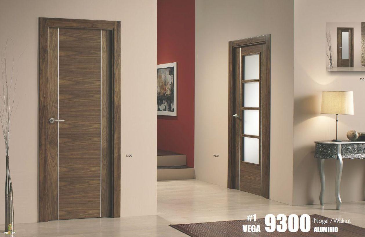 Puertas en Nogal con aluminio Maciza con instalacion 455.50€ + iva