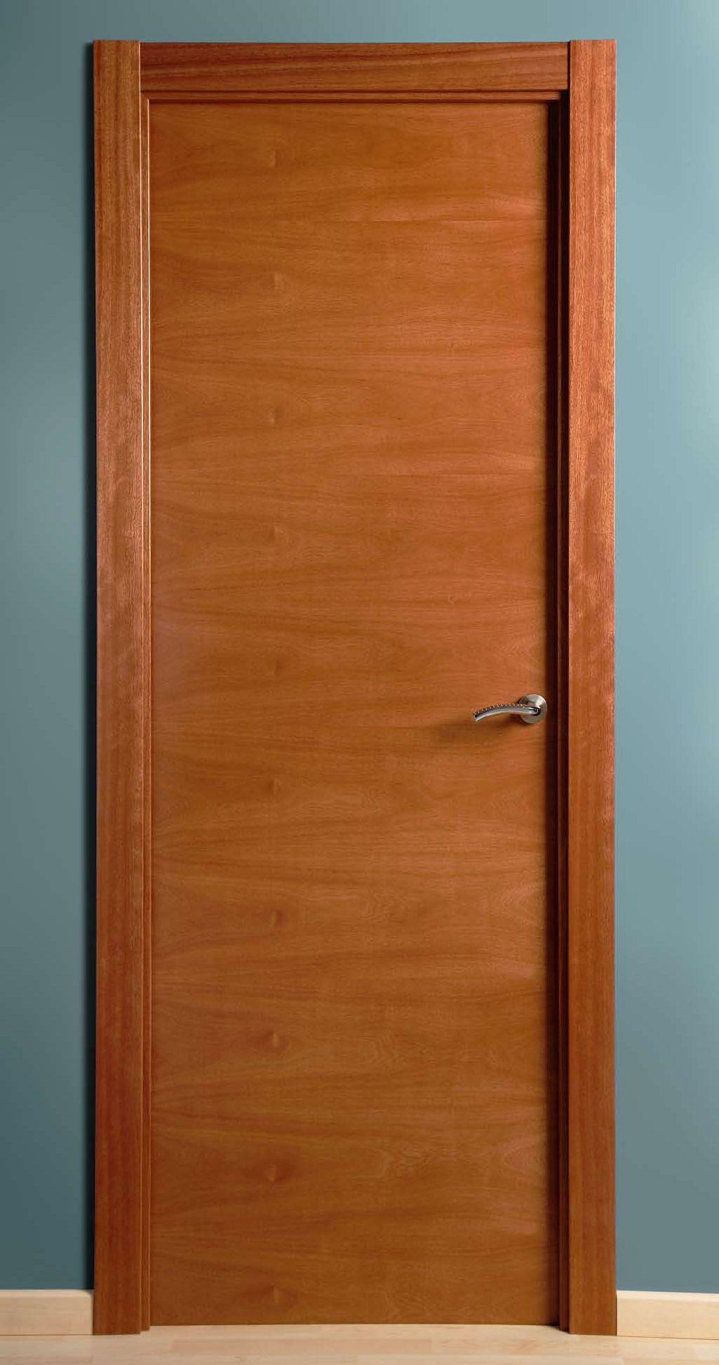 1 2 lisa maciza chapada en horizontal productos de for Modelos de puertas de madera