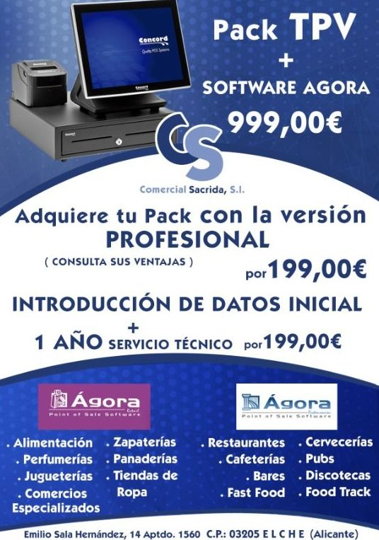 TPV + Software Agora 999€