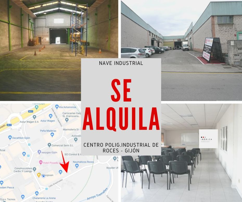 Se alquila nave industrial en Polígono Roces , Gijón