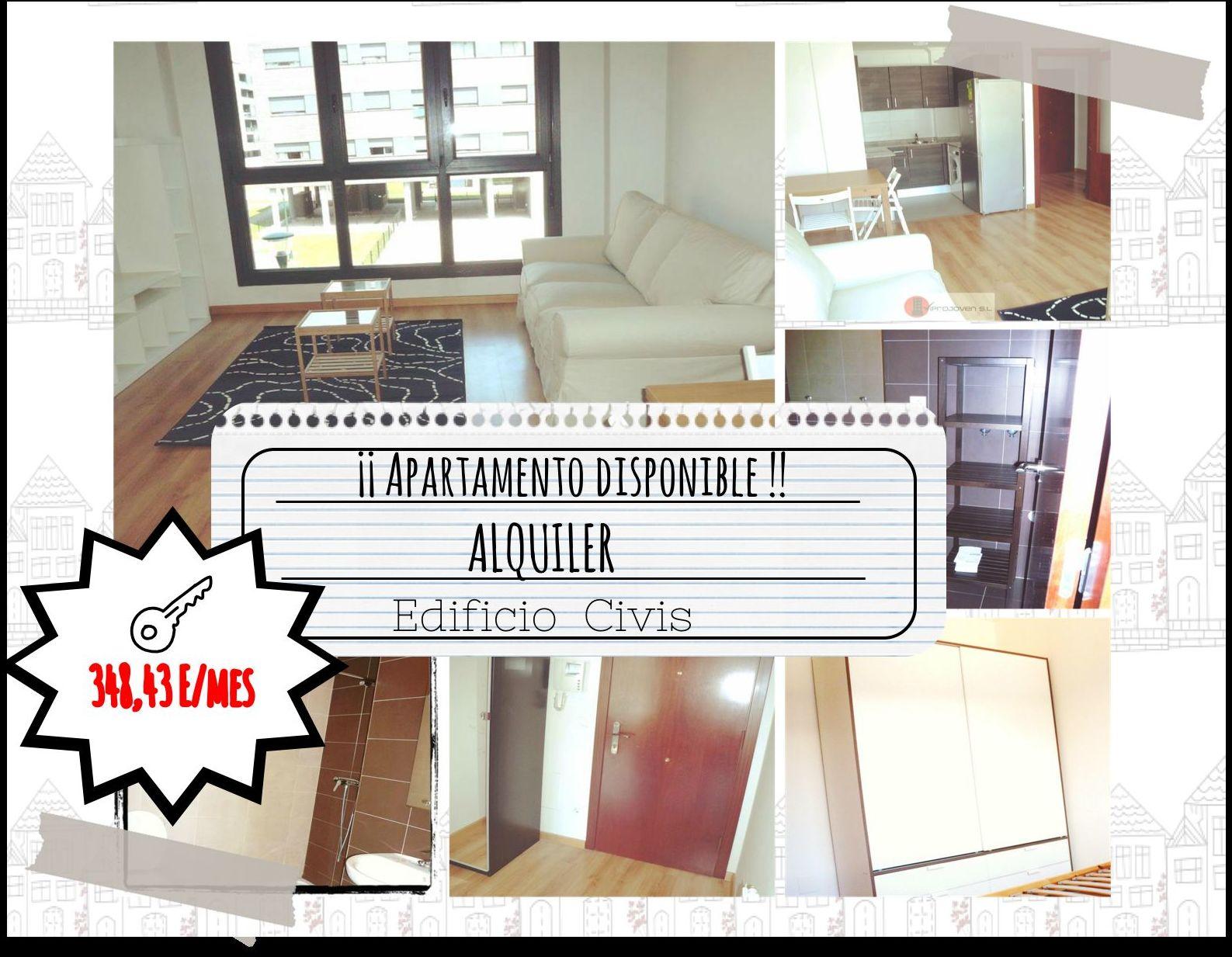 Piso 1 dormitorio alquiler en Roces-Gijón