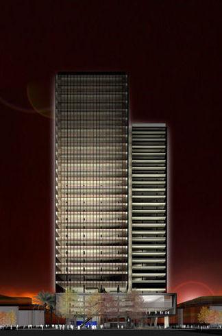 Maqueta de edificio en 3D