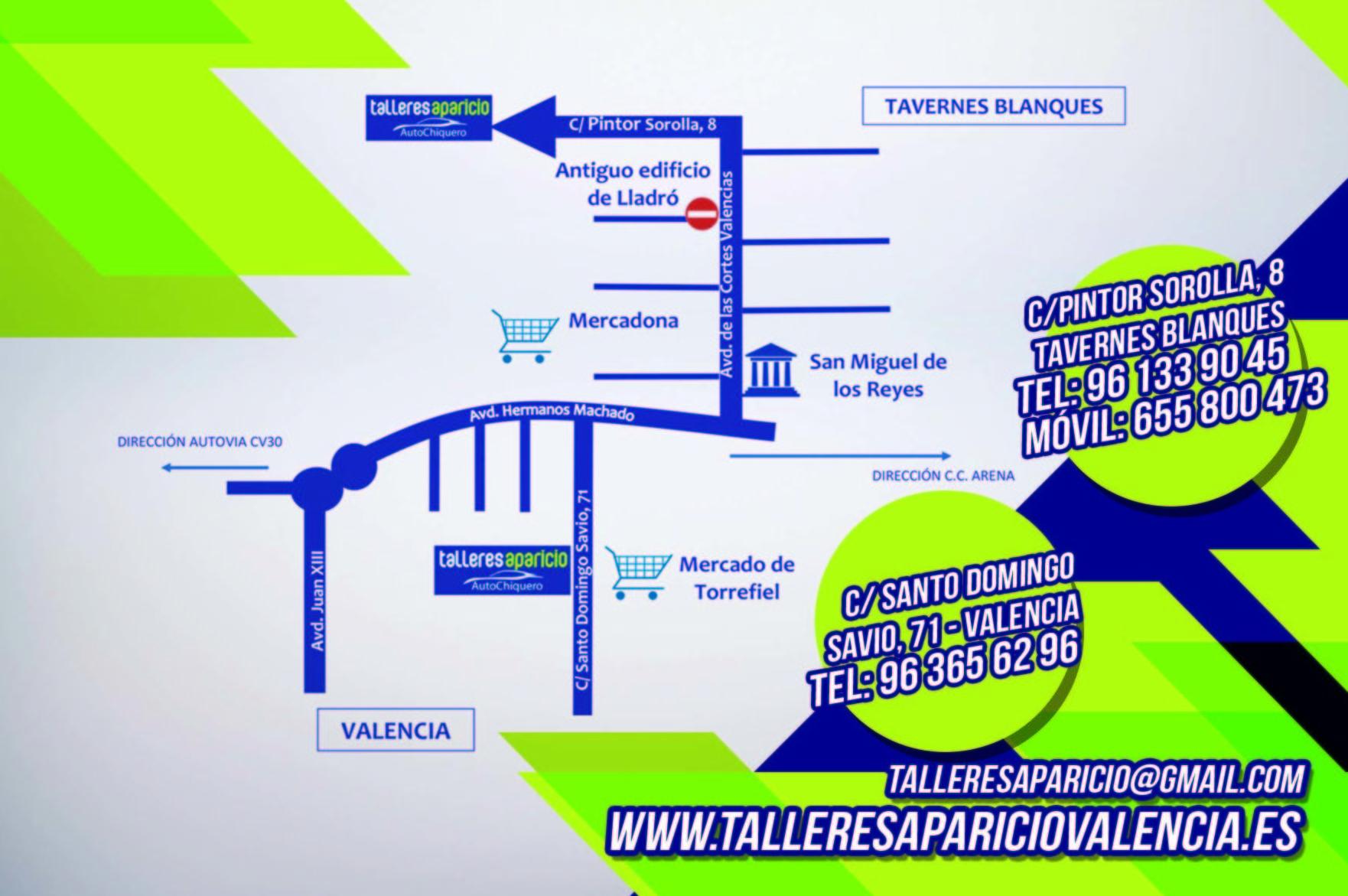 Nuevas Instalaciones: CATÁLOGO de Talleres Aparicio Autochiquero