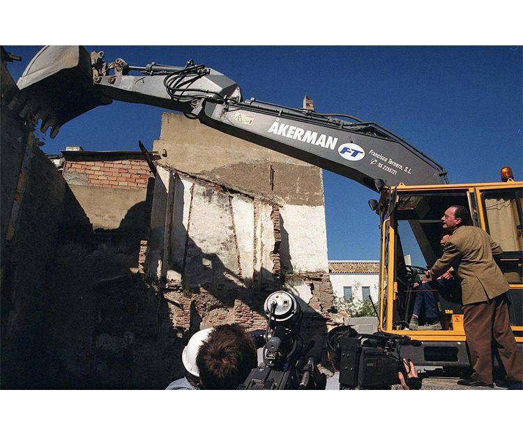 Demolición en el centro histórico de Málaga