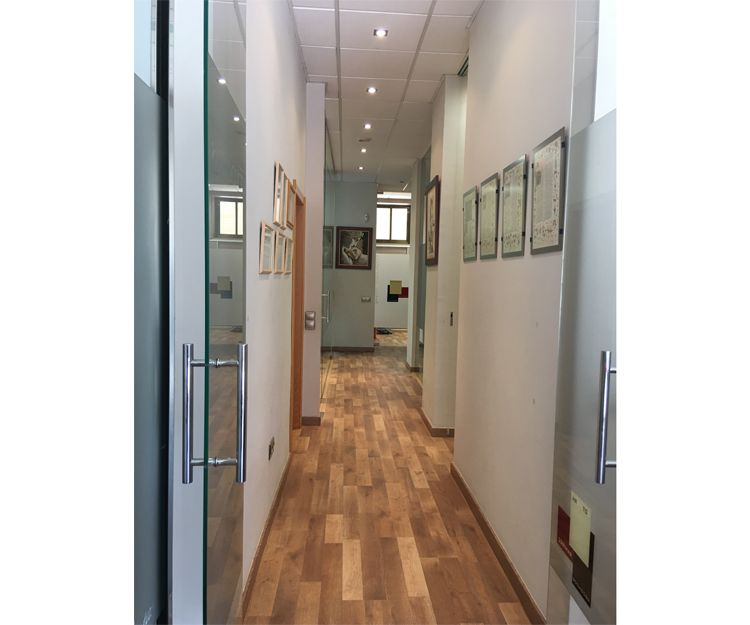 Interior del despacho de abogados