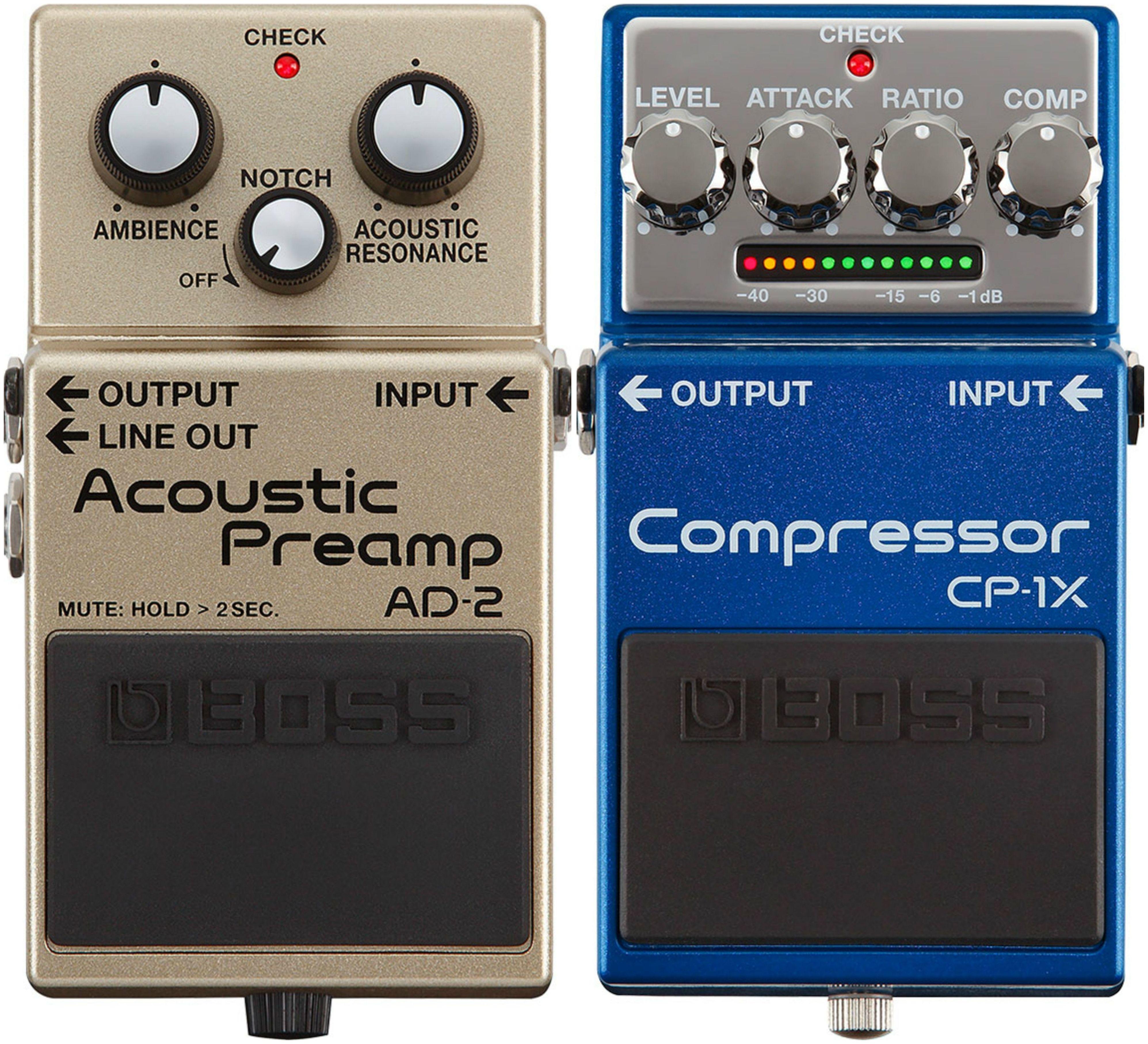 Nuevos pedales de Boss CP-1X y AD-2