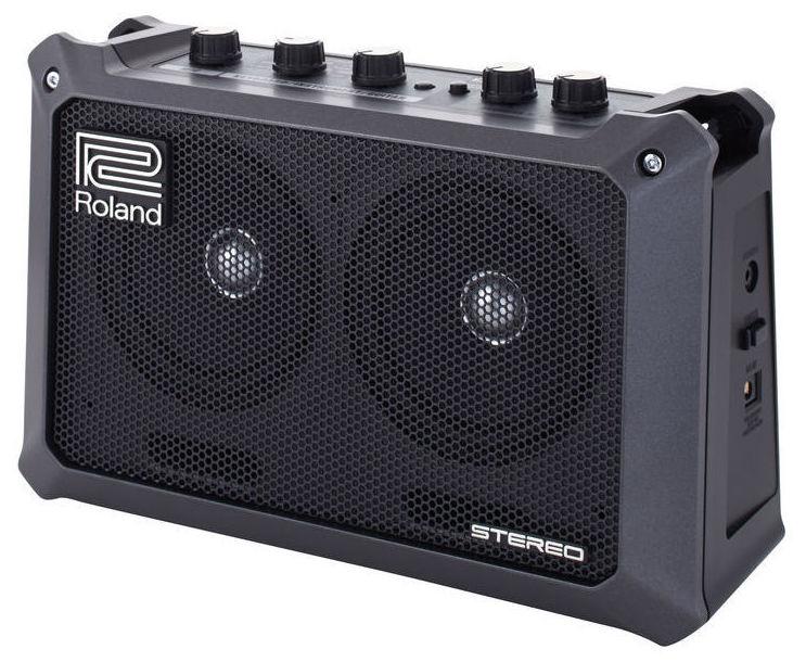 Amplificador pequeño a pilas para guitarra, bajo, teclado y voz Roland Mobile Cube