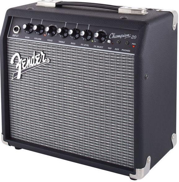 Amplificador pequeño guitarra eléctrica Fender Champion con efectos