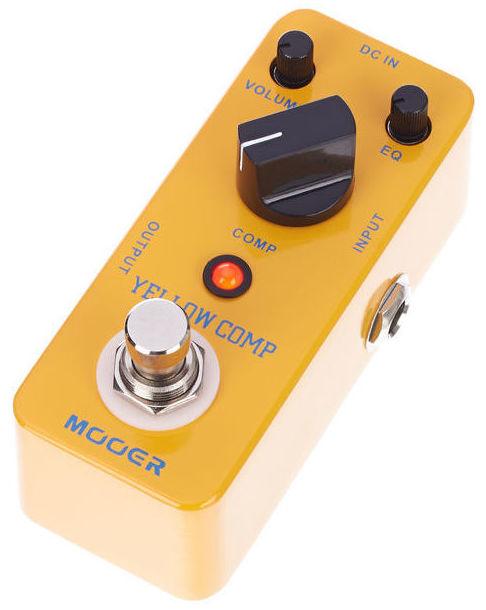 Mooer Yellow Comp, pedal compresor para guitarra y bajo