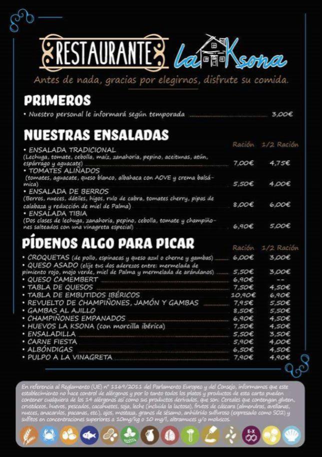 Nuestra Carta: Nuestros platos  de Restaurante La Ksona