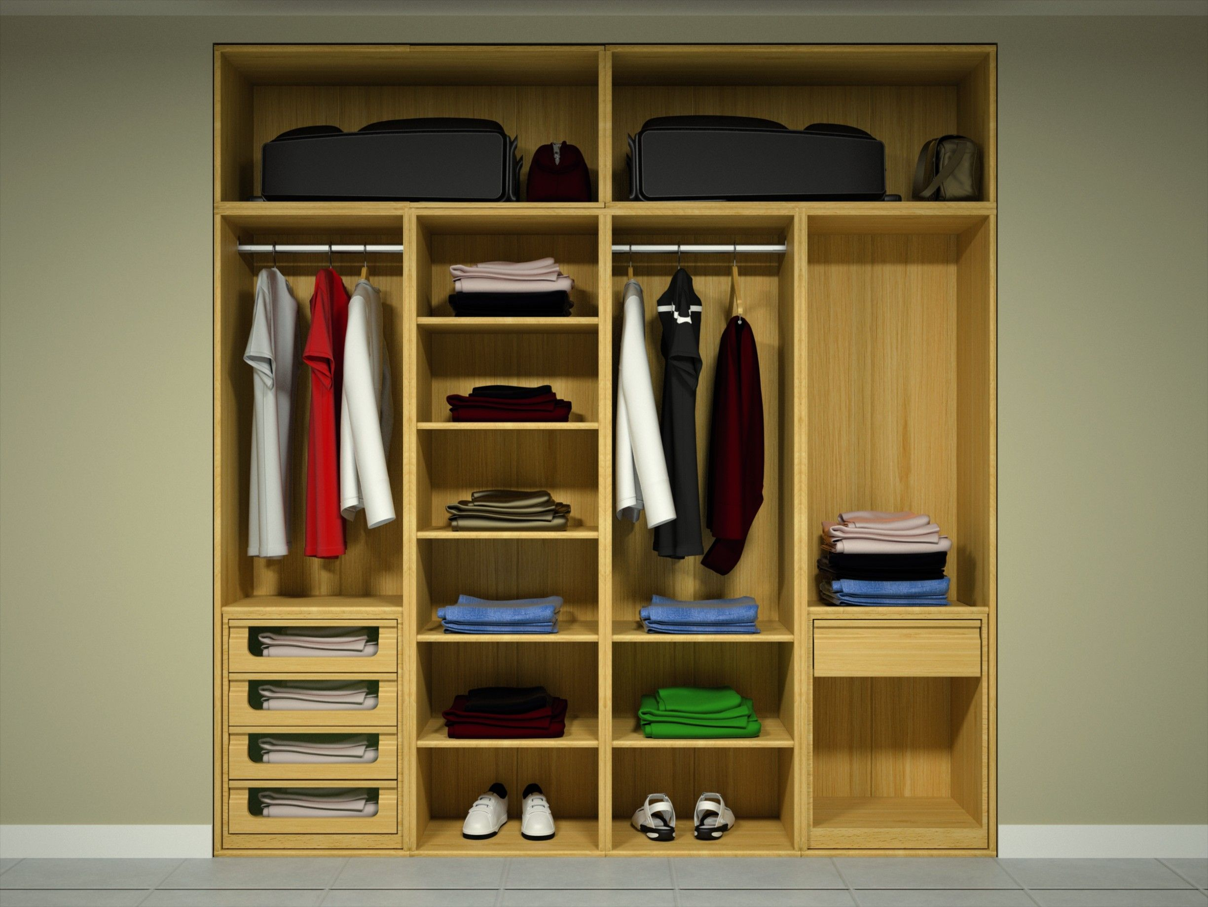 Frentes de armario interior