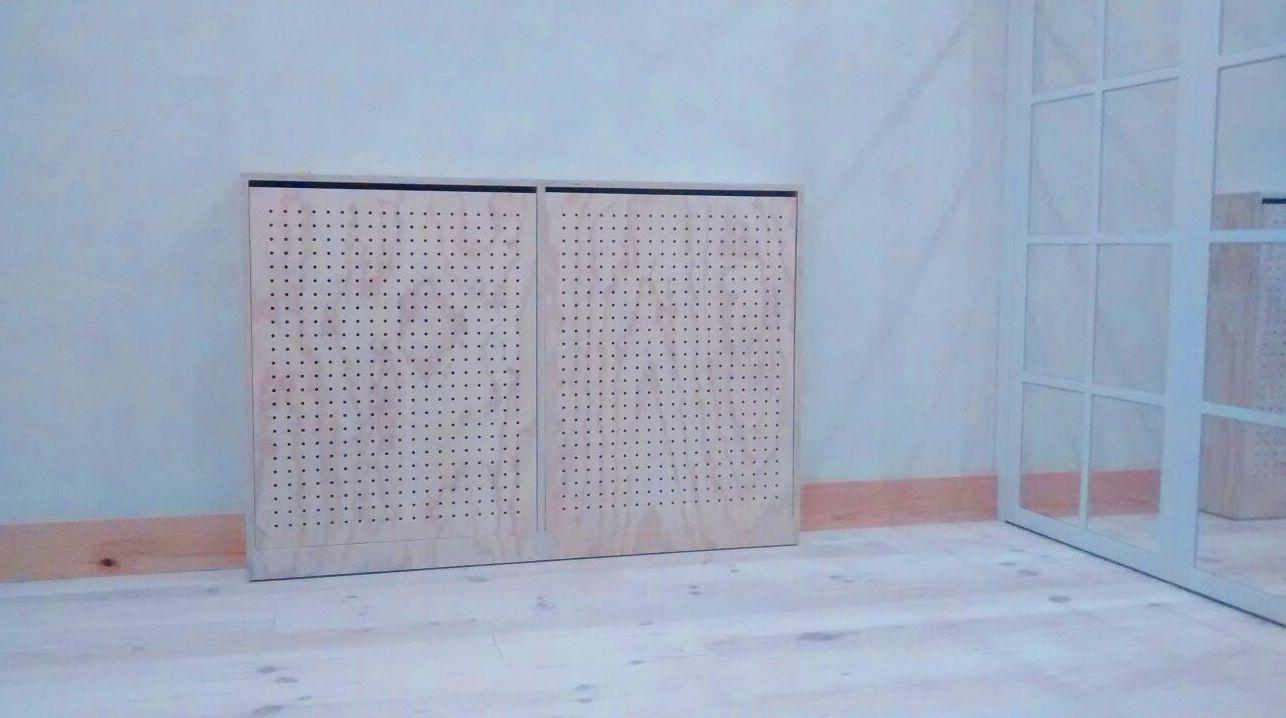 Cubreradiador en contrachapado de Pino Radiata