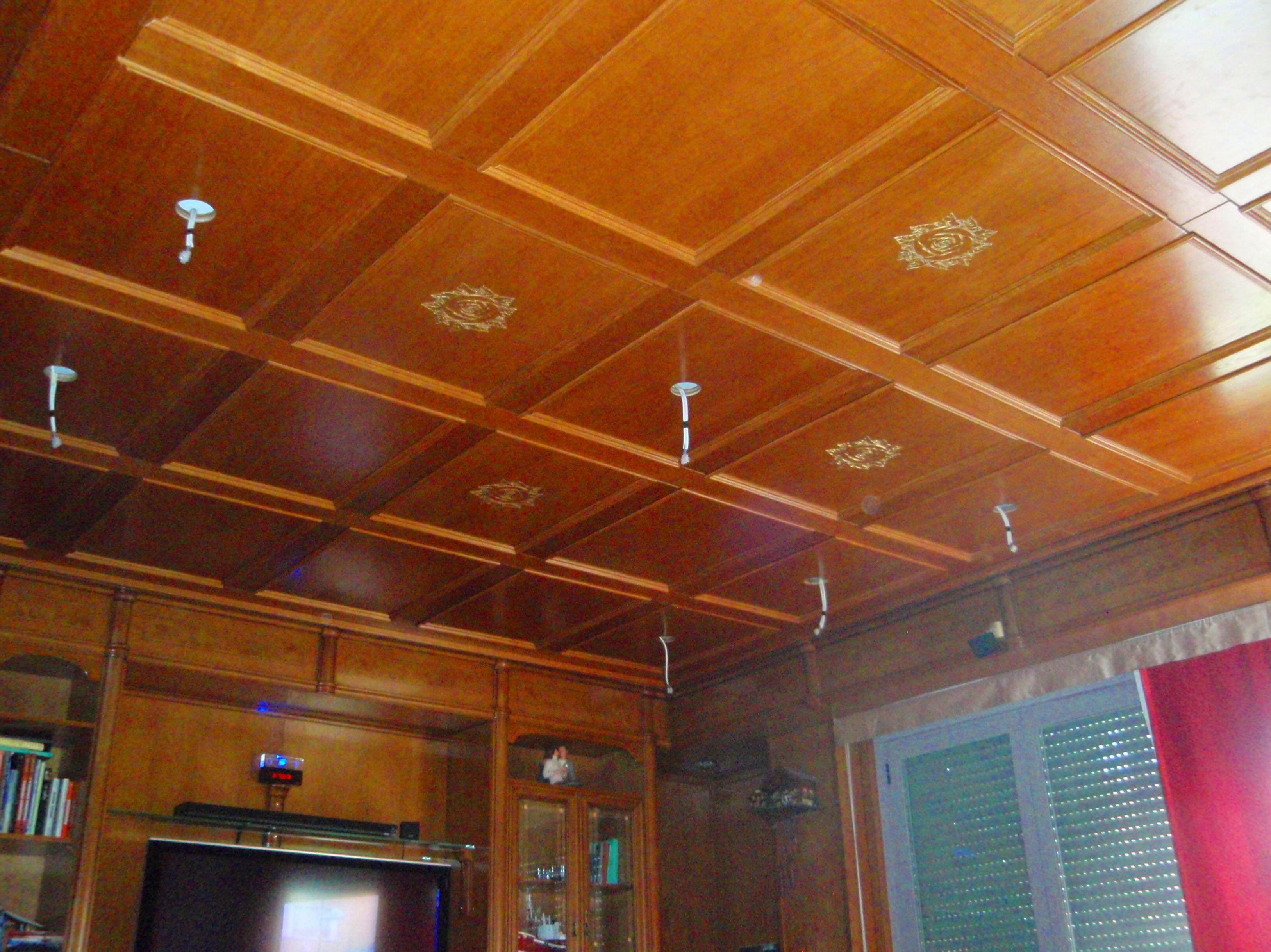 Realización de techo artesonado