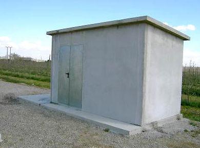 Casetas prefabricadas de hormigón para programadores de riego