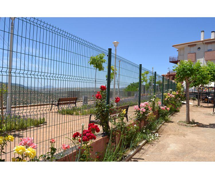 Patio exterior de la residencia de ancianos en Granada