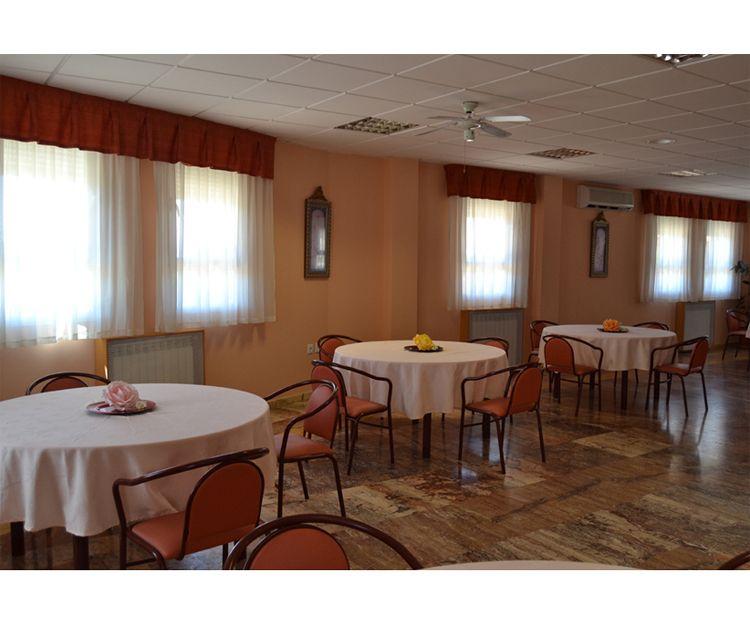 Comedor de la residencia geriátrica en Granada