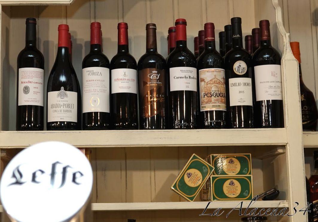 Amplia carta de vinos Fuerteventura