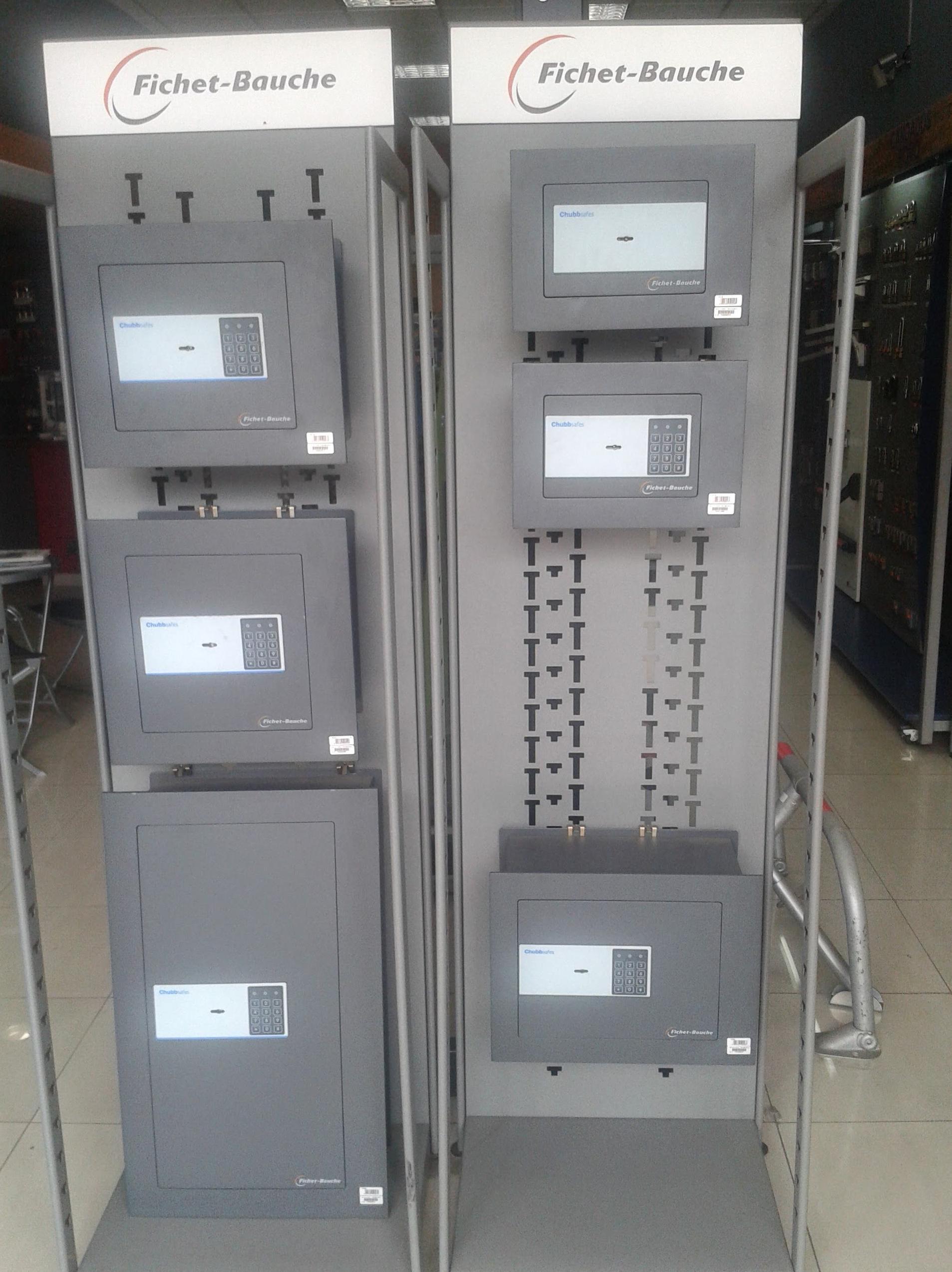 En la Cerrajería Hernández disponemos de cajas fuertes de la marca Fichet-Bauche