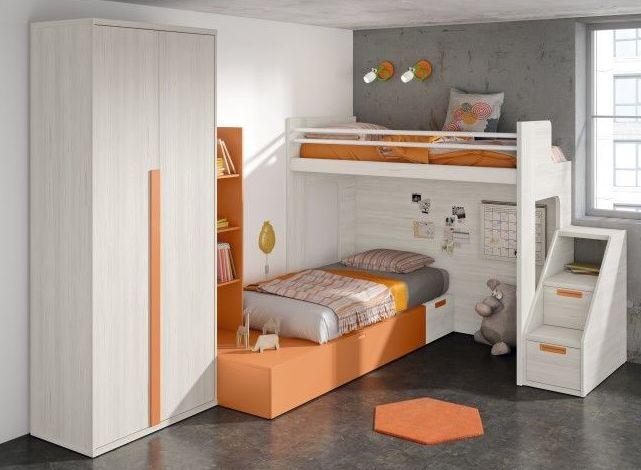 Muebles juveniles de diferentes estilos