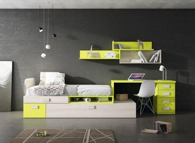 Muebles juveniles en diferentes acabados
