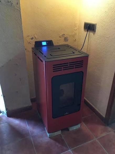 Instalación de estufas de pellets