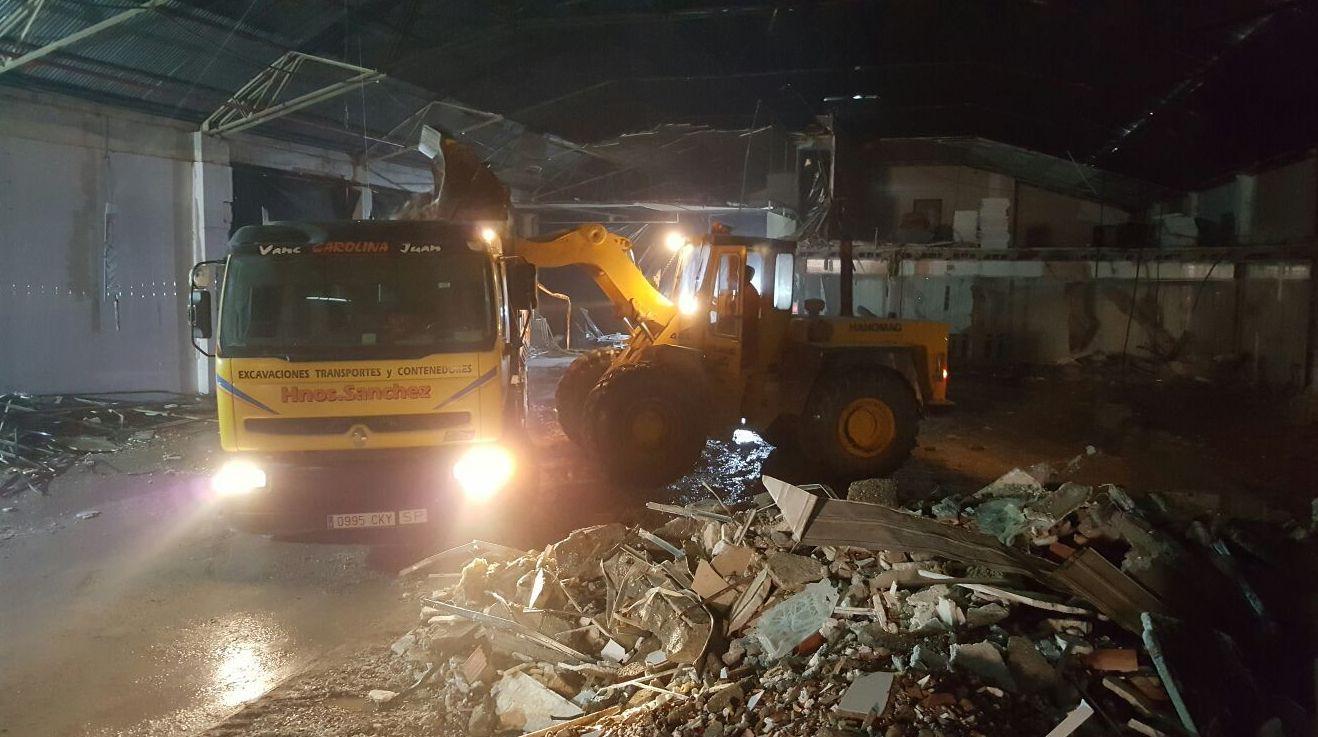 Retirada de escombros en Murcia