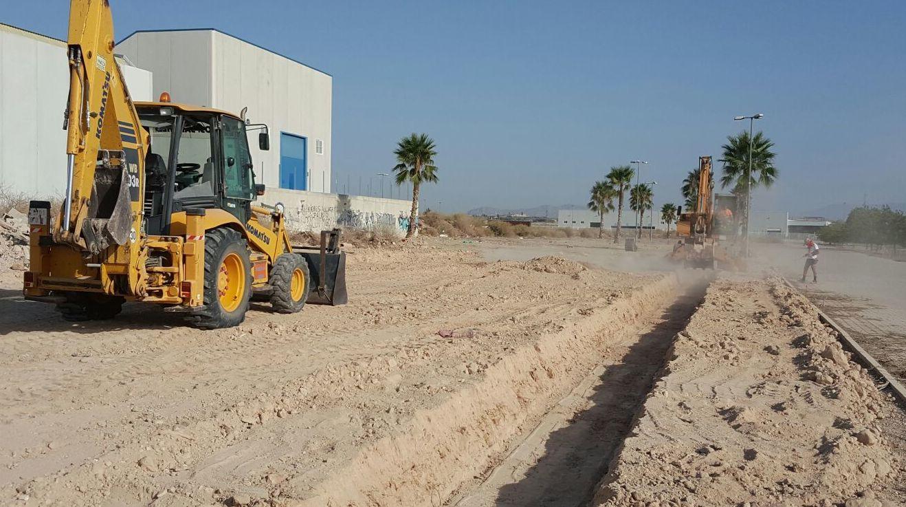 Trabajos de zanjeo en Murcia