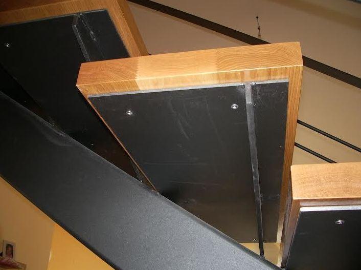 Detalle del peldaño de una escalera