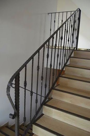 Barandillas y escaleras interiores nuestros trabajos de - Barandillas de forja para escaleras de interior ...