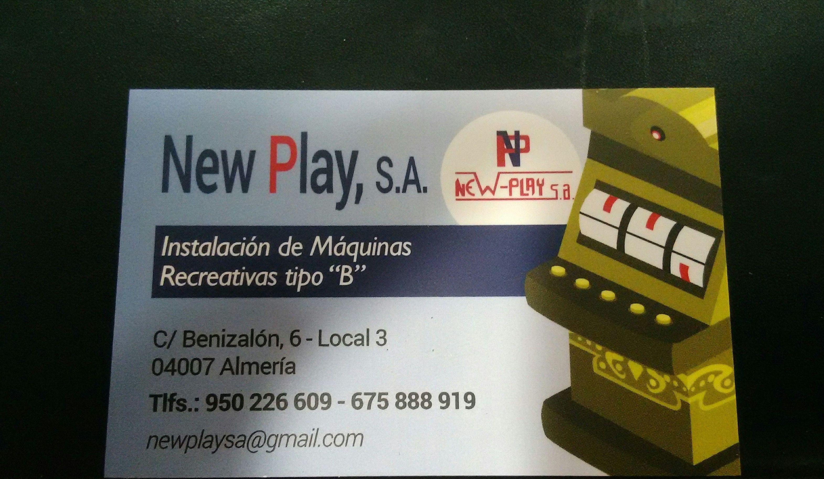Instalación: Productos y servicios de New Play, S.A.