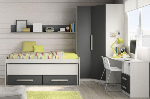 Dormitorio juvenil con varias medidas