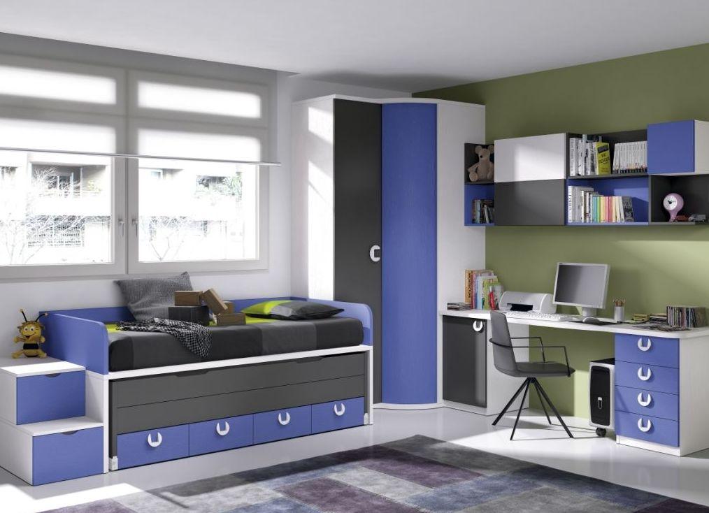 Dormitorio juvenil en varios colores
