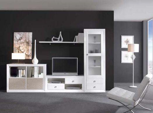 Mueble de salón en color blanco