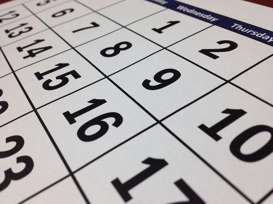 Calendario y horarios  : Servicios  de Guardería Rayitas