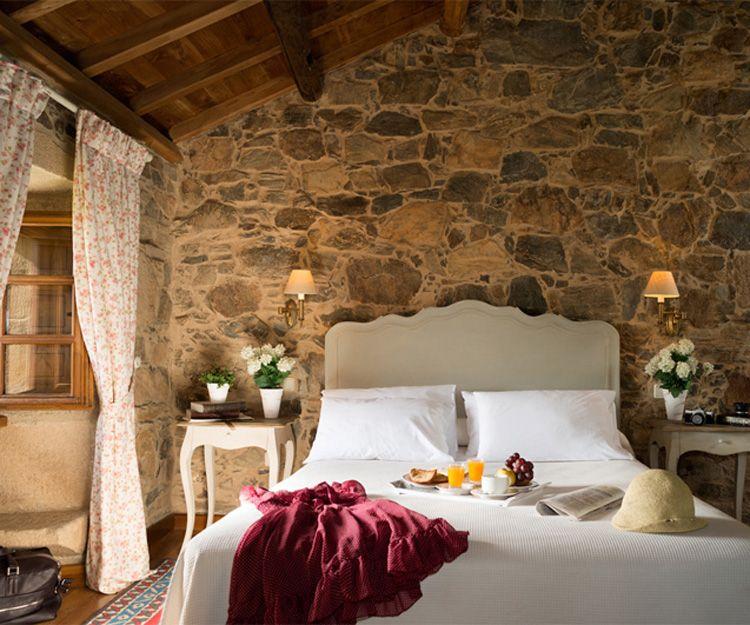Habitación doble de nuestra casa rural en Santiago de Compostela