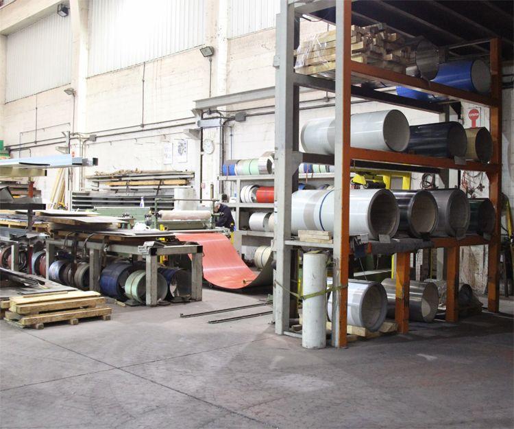 Interior de la empresa de mecanizados en Bizkaia