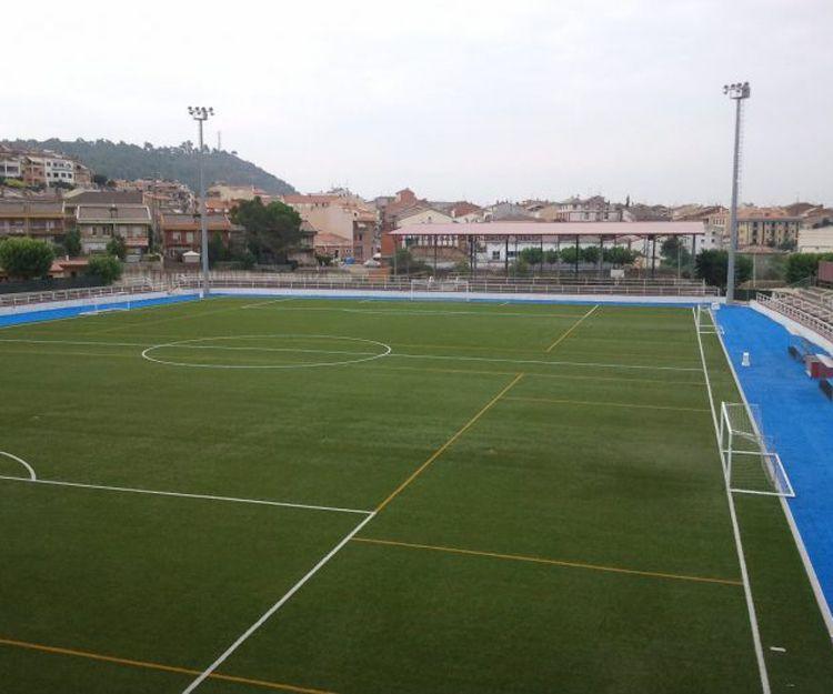 Realización de campo de fútbol