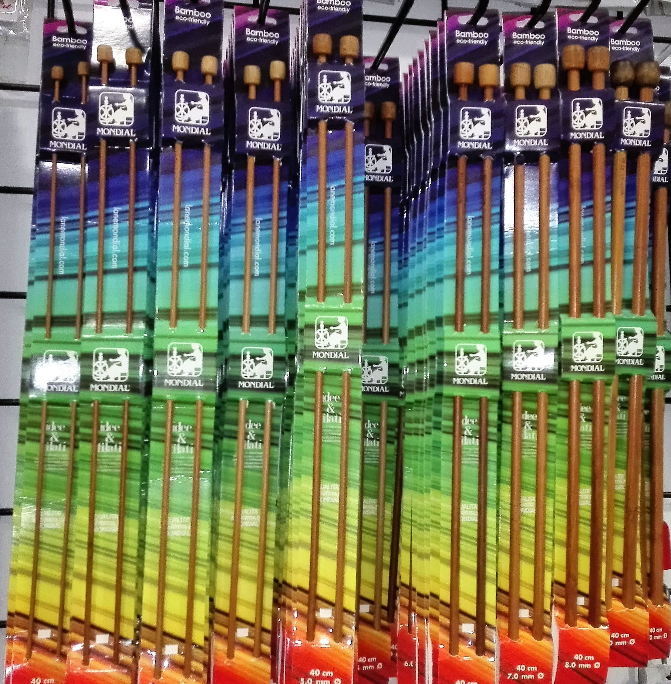Agujas para punto de bambú